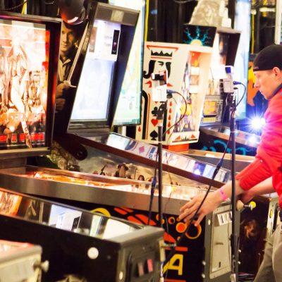 19 Former PAPA World Pinball Champion Cayle George of Seattle, WA Playing in Pinburgh