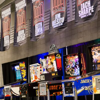 21 Pinburgh Stage and Banners Close Up